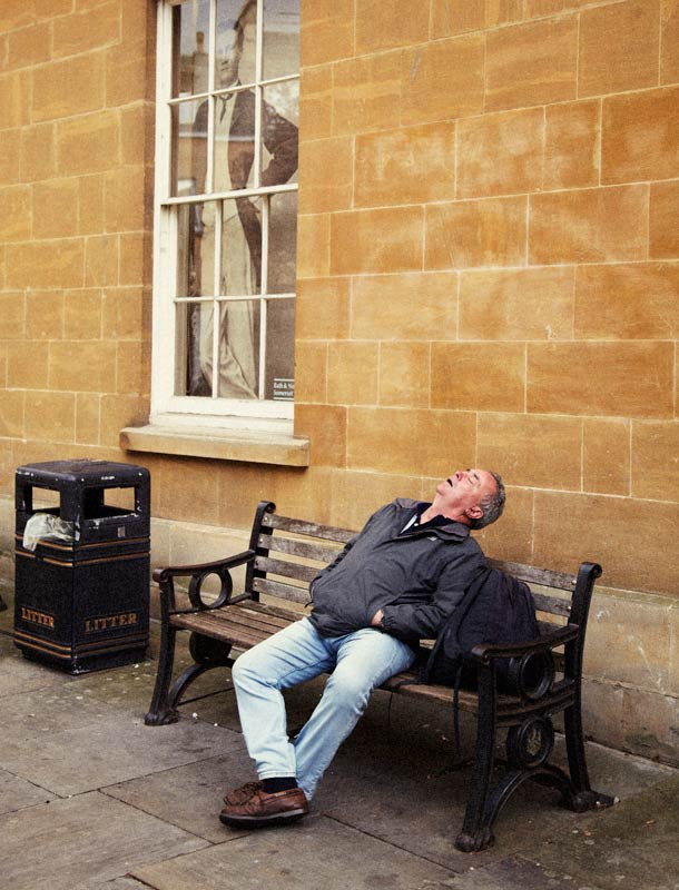 Man Asleep, Bath, England