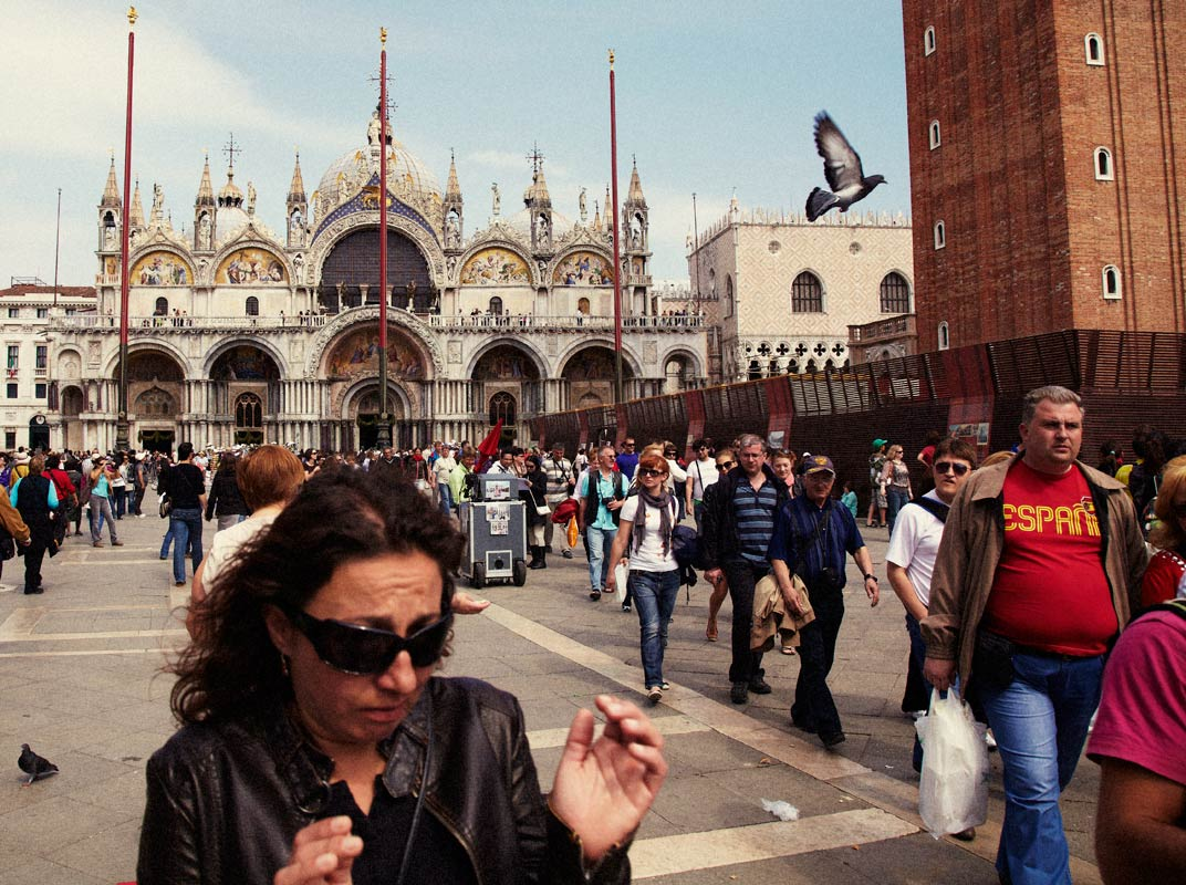Woman with Pigeons, Venice, Italy