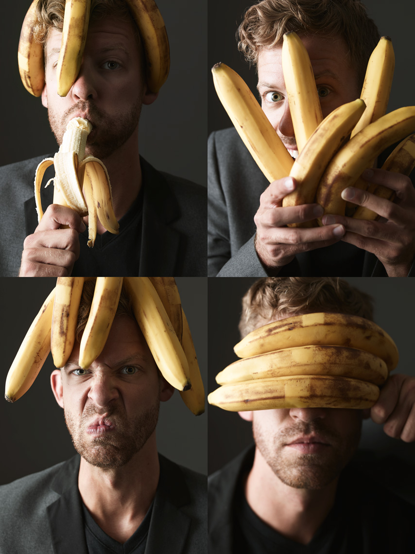Ben with Bananas, 1-4, 2014