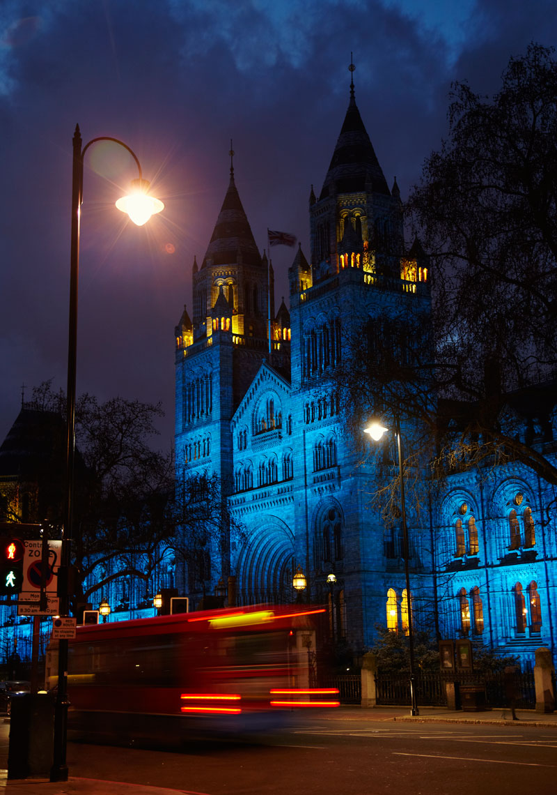 View of Natural History Museum, London, England