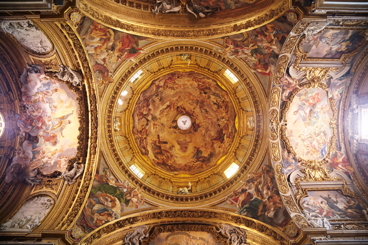 Dome of Chiesa del Ges, Rome, Italy