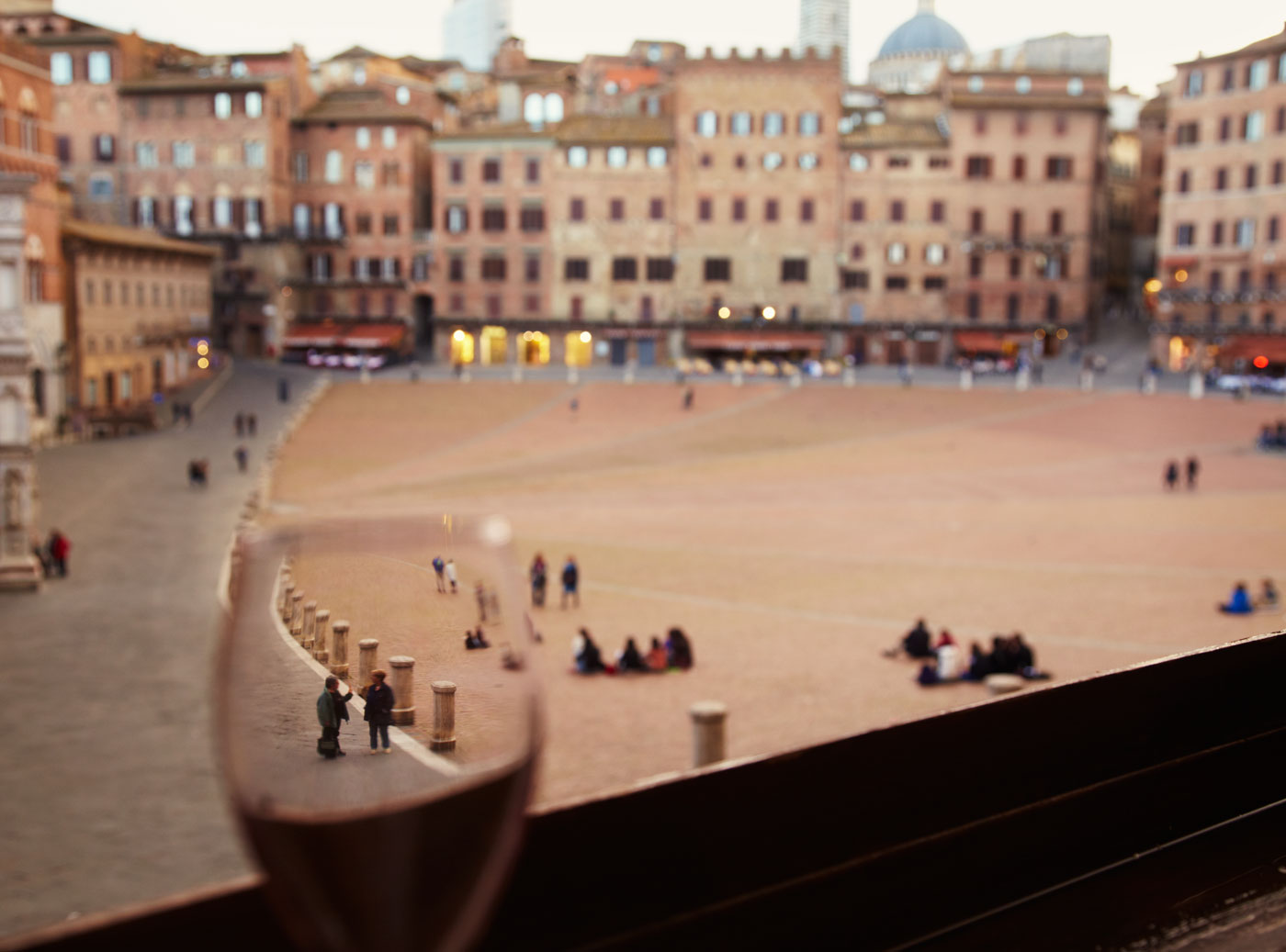 View of Il Campo, Siena, Italy