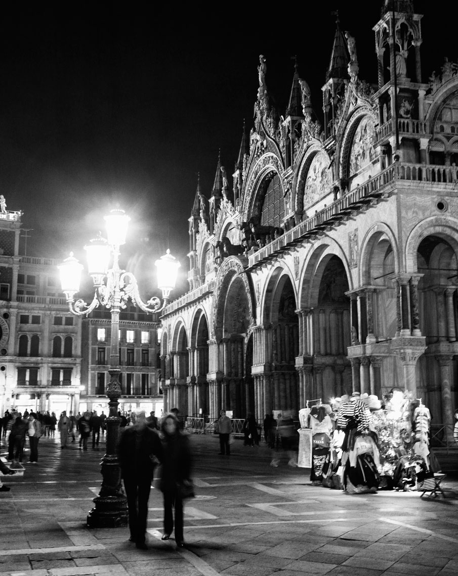Basilica di San Marco at Night, Venice, Italy