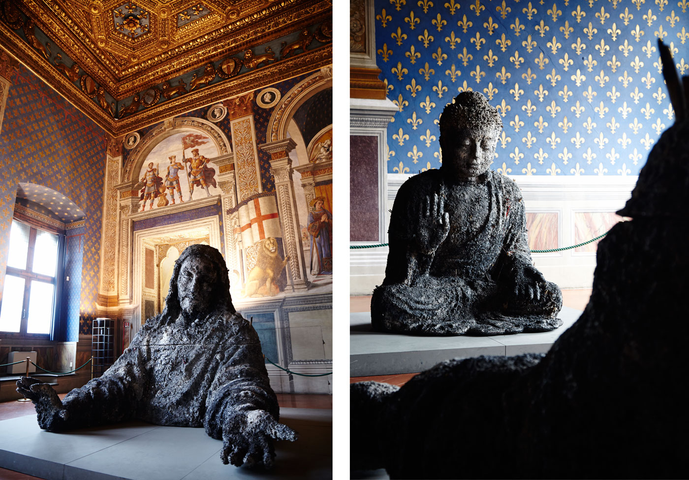 Zhang Huan: Jesus and Buddha in Ash, Palazzo Vecchio, Florence, Italy