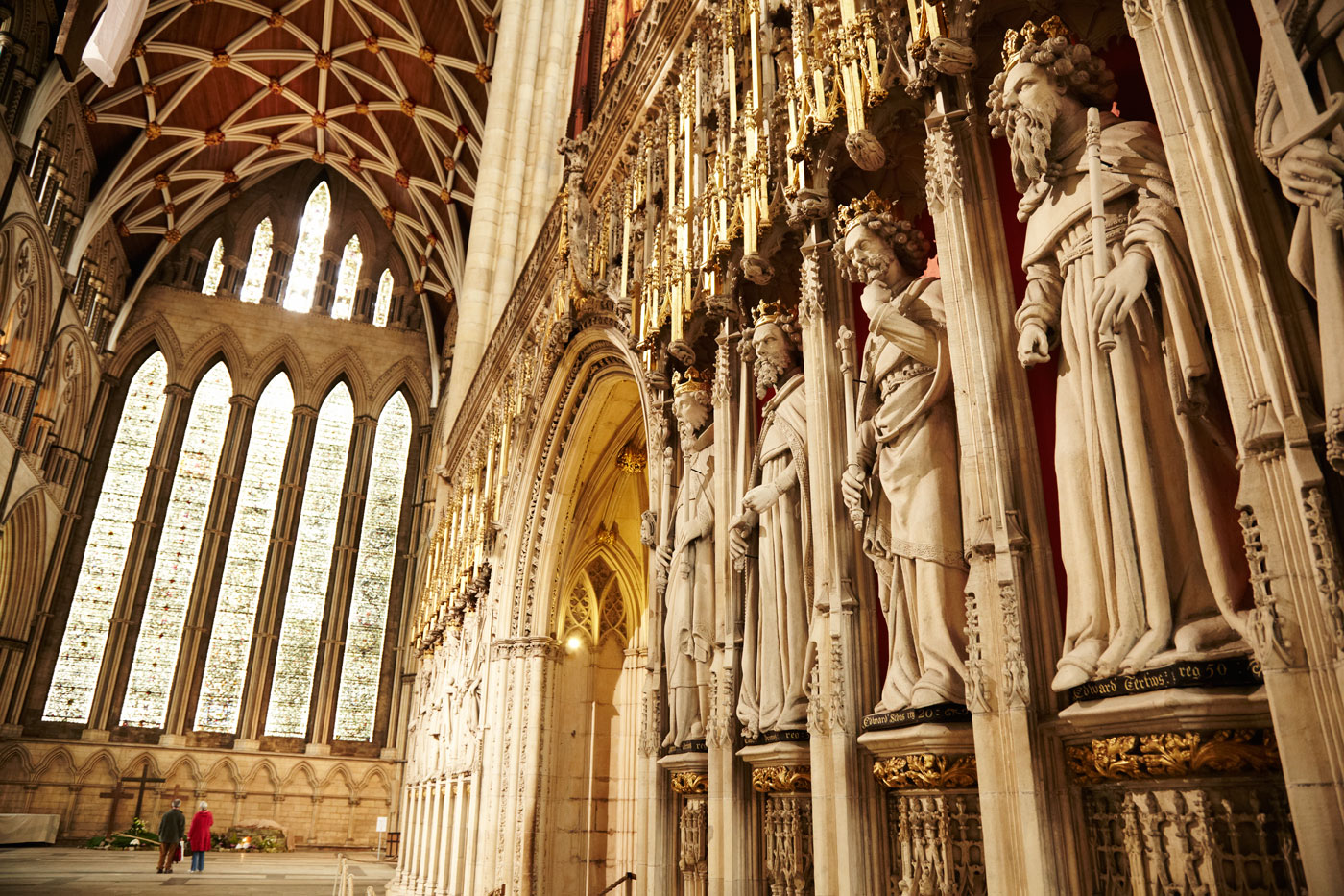 The Kings Screen and the Five Sisters, York Minster, York, England