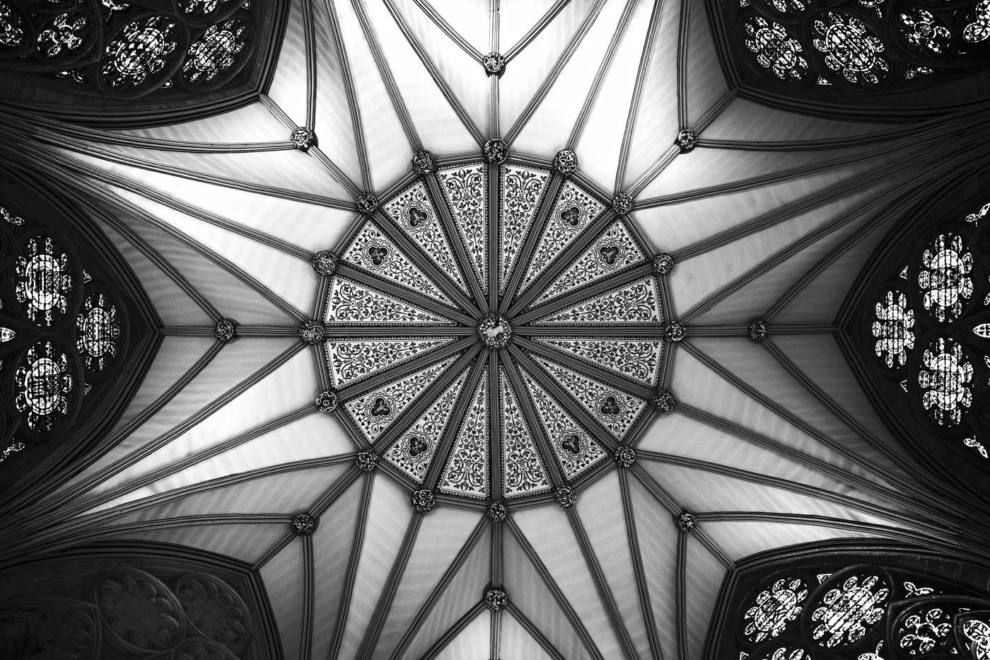 Chapter House ceiling, York Minster, York, England